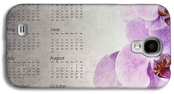 Studio Photographs Galaxy S4 Cases - Vintage orchid calendar 2013 Galaxy S4 Case by Jane Rix