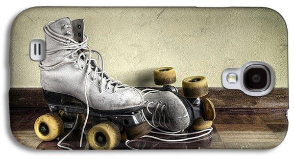 Antique Skates Galaxy S4 Cases - Vintage roller skates  Galaxy S4 Case by Carlos Caetano