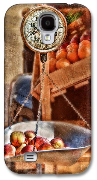 Farmstand Galaxy S4 Cases - Vintage Scale at Fruitstand Galaxy S4 Case by Jill Battaglia