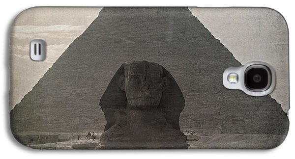 Pharaoh Galaxy S4 Cases - Vintage Sphinx Galaxy S4 Case by Jane Rix