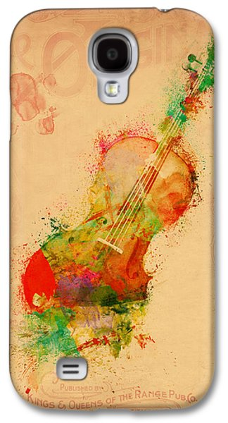 Playing Digital Art Galaxy S4 Cases - Violin Dreams Galaxy S4 Case by Nikki Marie Smith