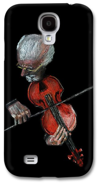 Music Pastels Galaxy S4 Cases - Violin Virtuoso Galaxy S4 Case by Arline Wagner