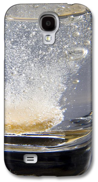 Effervescence Galaxy S4 Cases - Vitamin Tablet Dissolving In Water Galaxy S4 Case by Sheila Terry