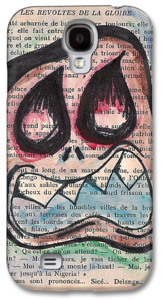 Creepy Drawings Galaxy S4 Cases - Voix Monster Galaxy S4 Case by Jera Sky