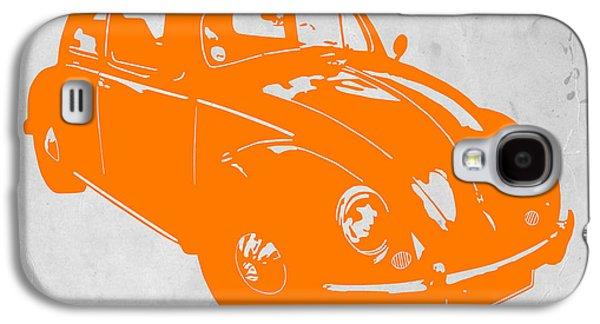 Timeless Galaxy S4 Cases - VW Beetle Orange Galaxy S4 Case by Naxart Studio