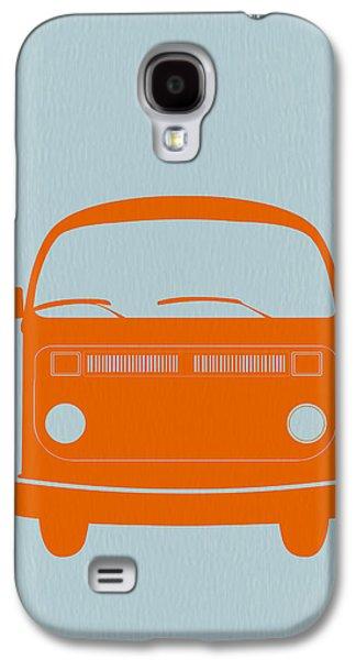 Objects Galaxy S4 Cases - VW Bus Orange Galaxy S4 Case by Naxart Studio