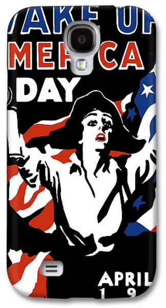 American Flag Mixed Media Galaxy S4 Cases - Wake Up America Day Galaxy S4 Case by War Is Hell Store