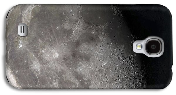 Sphere Galaxy S4 Cases - Waning Gibbous Moon Galaxy S4 Case by Stocktrek Images
