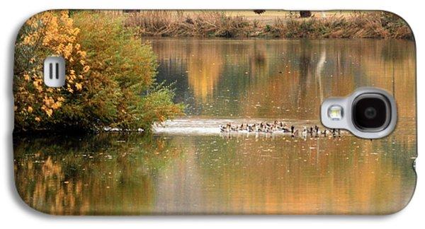 Yakima Valley Galaxy S4 Cases - Warm Autumn River Galaxy S4 Case by Carol Groenen
