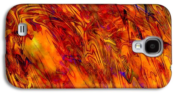 Abstract Digital Art Galaxy S4 Cases - Warmth and Charm - Abstract Art Galaxy S4 Case by Carol Groenen