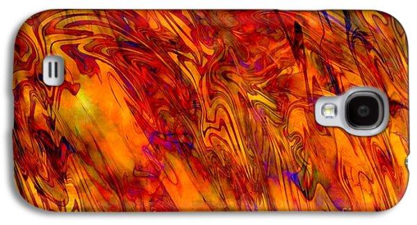 Abstract Digital Art Mixed Media Galaxy S4 Cases - Warmth and Charm - Abstract Art Galaxy S4 Case by Carol Groenen