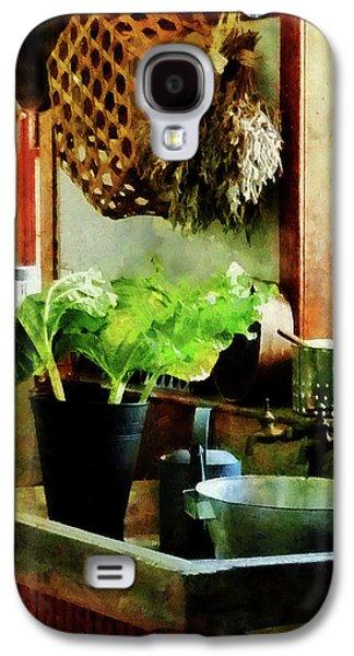 Romaine Galaxy S4 Cases - Washing Garden Greens Galaxy S4 Case by Susan Savad