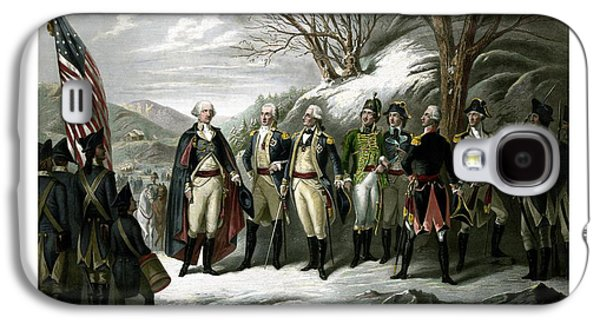 4th July Galaxy S4 Cases - Washington and His Generals  Galaxy S4 Case by War Is Hell Store