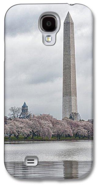 Cherry Tree Galaxy S4 Cases - Washington Monument During Cherry Blossom Festival  Galaxy S4 Case by Sebastian Musial