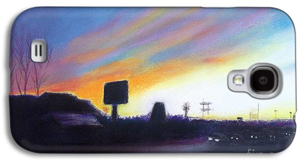 Landscape Acrylic Prints Pastels Galaxy S4 Cases - Washtenaw Avenue    Ypsilanti  Michigan  Galaxy S4 Case by Yoshiko Mishina