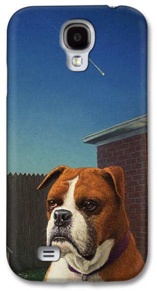Boxer Galaxy S4 Cases - Watchdog Galaxy S4 Case by James W Johnson