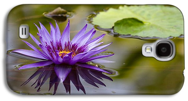 Recently Sold -  - Botanical Galaxy S4 Cases - Water Lily Kissing the Water Galaxy S4 Case by Sabrina L Ryan