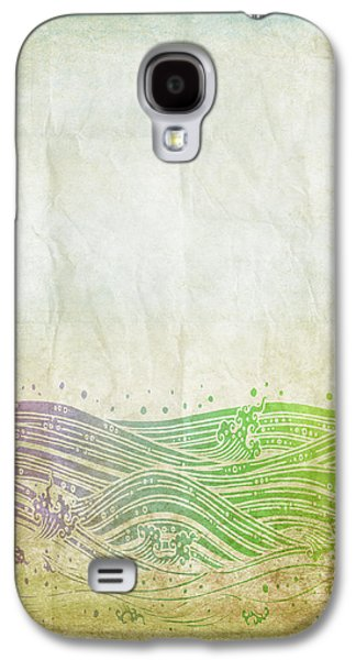 Torn Mixed Media Galaxy S4 Cases - Water Pattern On Old Paper Galaxy S4 Case by Setsiri Silapasuwanchai