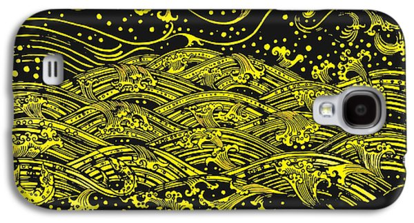 Ancient Galaxy S4 Cases - Water Pattern Galaxy S4 Case by Setsiri Silapasuwanchai