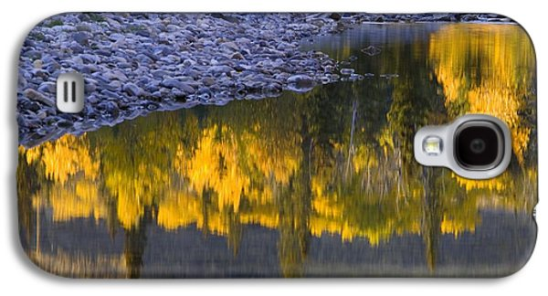 Trees Reflecting In Water Galaxy S4 Cases - Water Reflections With A Rocky Shoreline Galaxy S4 Case by Carson Ganci