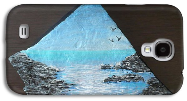 Waterscape Sculptures Galaxy S4 Cases - Water With Rocks Galaxy S4 Case by Monika Dickson-Shepherdson