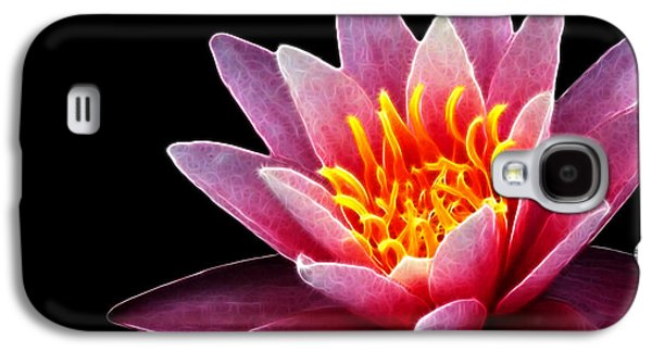 Fractal Image Galaxy S4 Cases - Waterlily Fractal Galaxy S4 Case by Cheryl Young
