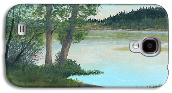 Waterscape Pastels Galaxy S4 Cases - Waters Edge at Hummel Lake Galaxy S4 Case by Ginny Neece