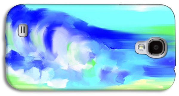 Nature Abstract Galaxy S4 Cases - Waves Crashing on the Beach Galaxy S4 Case by George Pedro