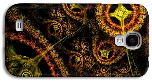 Digital Art Greeting Cards Galaxy S4 Cases - WeaveWorld Galaxy S4 Case by Lyle Hatch