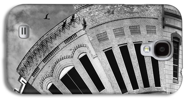 At Work Galaxy S4 Cases - Wee Bryan Texas Detail in Black and White Galaxy S4 Case by Nikki Marie Smith