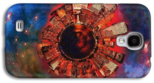 Science Fiction Galaxy S4 Cases - Wee Manhattan Planet - Artist Rendition Galaxy S4 Case by Nikki Marie Smith