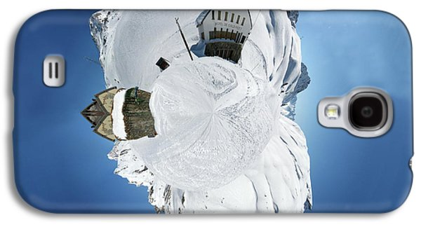 Snowy Digital Art Galaxy S4 Cases - Wee Winter Hotel Galaxy S4 Case by Nikki Marie Smith