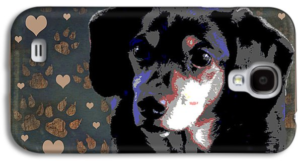 Dachshund Puppy Digital Art Galaxy S4 Cases - Wee With Love Galaxy S4 Case by One Rude Dawg Orcutt