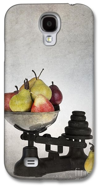Parchment Galaxy S4 Cases - Weighing pears Galaxy S4 Case by Jane Rix