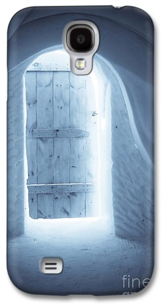 Quebec Galaxy S4 Cases - Welcome to the Ice Hotel Galaxy S4 Case by Sophie Vigneault