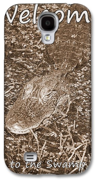 Welcome To The Swamp - Sepia Galaxy S4 Case by Carol Groenen
