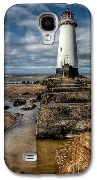 Rail Digital Art Galaxy S4 Cases - Welsh Lighthouse  Galaxy S4 Case by Adrian Evans