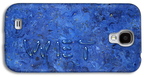 Blue Abstracts Galaxy S4 Cases - Wet Galaxy S4 Case by James W Johnson