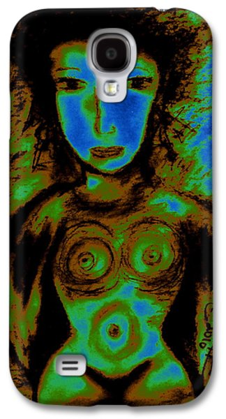 Abstracted Galaxy S4 Cases - What Are You Looking At-2 Galaxy S4 Case by Natalie Holland