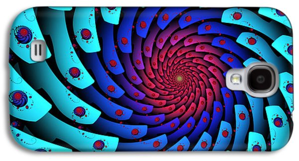 Abstract Digital Art Galaxy S4 Cases - Whirlpool Galaxy S4 Case by Jutta Maria Pusl