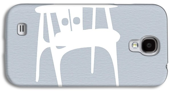 Chair Galaxy S4 Cases - White Chair Galaxy S4 Case by Naxart Studio