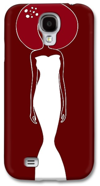 Head Drawings Galaxy S4 Cases - White Dress Galaxy S4 Case by Frank Tschakert