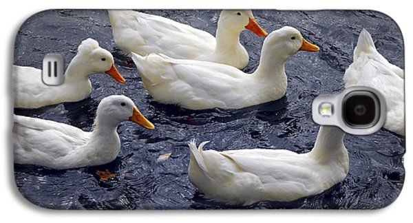 White Ducks Galaxy S4 Case by Elena Elisseeva