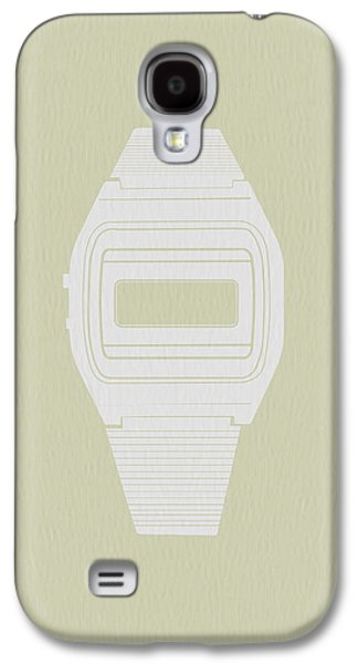 White Electronic Watch Galaxy S4 Case by Naxart Studio