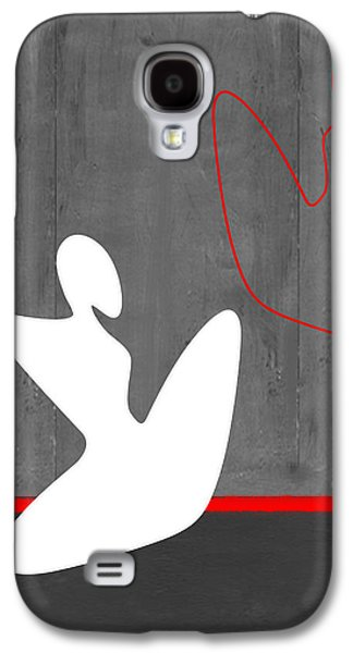Abstract Forms Galaxy S4 Cases - White Girl Galaxy S4 Case by Naxart Studio