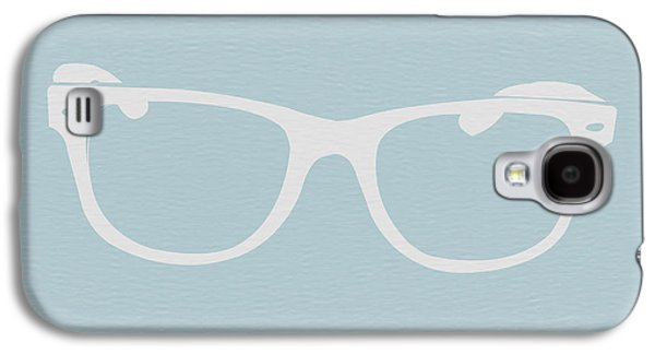 Glass Galaxy S4 Cases - White Glasses Galaxy S4 Case by Naxart Studio