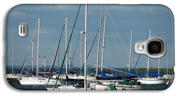 Original Art Photographs Galaxy S4 Cases - White Sailboats Galaxy S4 Case by Colleen Kammerer