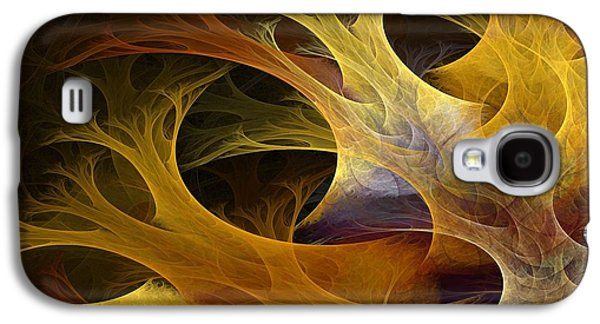 Digital Art Abstracts Galaxy S4 Cases - Wild Trees Galaxy S4 Case by Lourry Legarde
