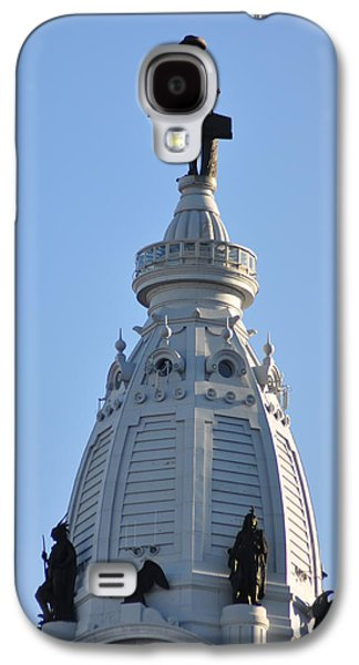 William Penn - On Top Of City Hall Galaxy S4 Case by Bill Cannon