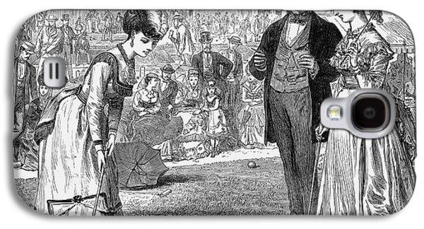 Wimbledon Galaxy S4 Cases - Wimbledon: Croquet, 1870 Galaxy S4 Case by Granger